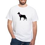 German Shepherd Breast Cancer White T-Shirt