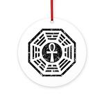 Dharma Black Ankh Ornament (Round)