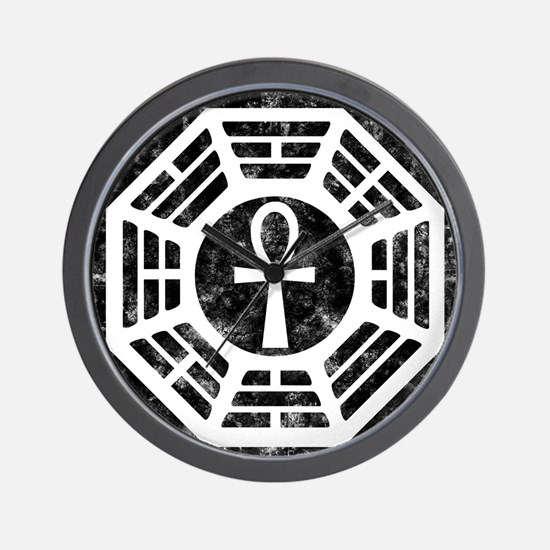 Dharma Black Ankh Wall Clock