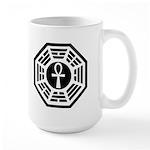 Dharma Black Ankh Large Mug