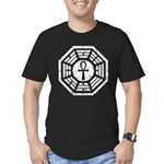 Dharma Black Ankh Men's Fitted T-Shirt (dark)