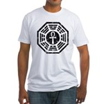 Dharma Black Ankh Fitted T-Shirt