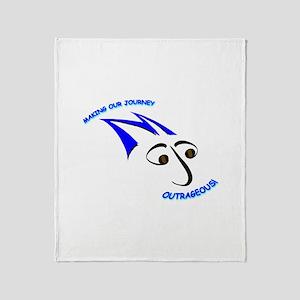 Blue Mojo Logo Throw Blanket
