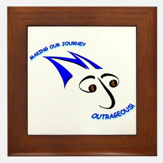 Blue Mojo Logo Framed Tile