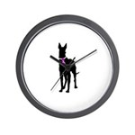 Great Dane Breast Cancer Supp Wall Clock