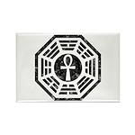 Dharma Black Ankh Rectangle Magnet