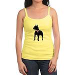 Pitbull Terrier Breast Cancer Jr. Spaghetti Tank