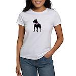 Pitbull Terrier Breast Cancer Women's T-Shirt