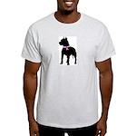 Pitbull Terrier Breast Cancer Light T-Shirt