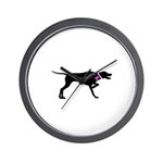 Pointer Breast Cancer Support Wall Clock