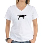 Pointer Breast Cancer Support Women's V-Neck T-Shi