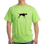 Pointer Breast Cancer Support Green T-Shirt