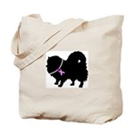Pomeranian Breast Cancer Supp Tote Bag