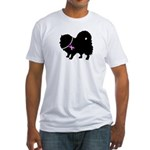 Pomeranian Breast Cancer Supp Fitted T-Shirt