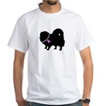 Pomeranian Breast Cancer Supp White T-Shirt