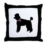 Poodle Breast Cancer Support Throw Pillow