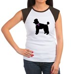 Poodle Breast Cancer Support Women's Cap Sleeve T-