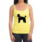 Poodle Breast Cancer Support Jr. Spaghetti Tank