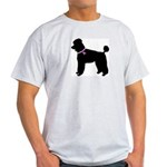 Poodle Breast Cancer Support Light T-Shirt