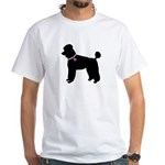 Poodle Breast Cancer Support White T-Shirt