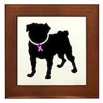 Pug Breast Cancer Support Framed Tile