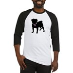 Pug Breast Cancer Support Baseball Jersey