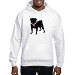 Pug Breast Cancer Support Hooded Sweatshirt