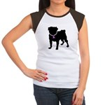 Pug Breast Cancer Support Women's Cap Sleeve T-Shi
