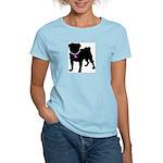 Pug Breast Cancer Support Women's Light T-Shirt