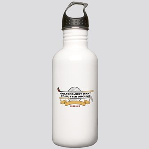 Golfers Putter Around Stainless Water Bottle 1.0L