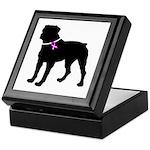 Rottweiler Breast Cancer Supp Keepsake Box