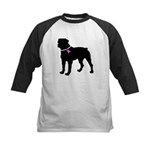 Rottweiler Breast Cancer Supp Kids Baseball Jersey