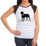 Rottweiler Breast Cancer Supp Women's Cap Sleeve T