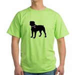 Rottweiler Breast Cancer Supp Green T-Shirt
