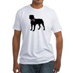 Rottweiler Breast Cancer Supp Fitted T-Shirt