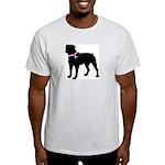 Rottweiler Breast Cancer Supp Light T-Shirt