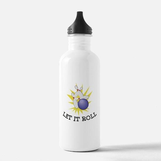 Let It Roll Bowling Water Bottle