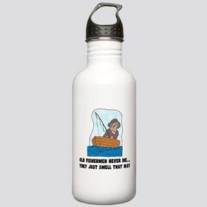Old Fishermen Never Die Stainless Water Bottle 1.0