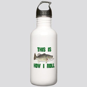 How I Roll Bass Fishing Stainless Water Bottle 1.0