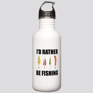 I'd Rather Be Fishing Stainless Water Bottle 1.0L
