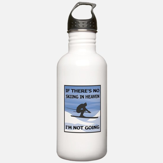 Skiing In Heaven Water Bottle