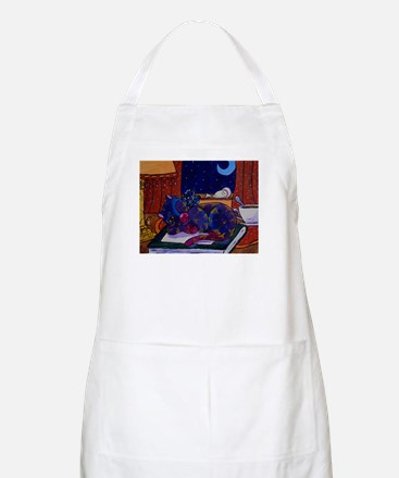 Fairy Cat On a Book Apron