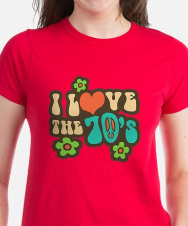 I Love The 70's Women's Dark T-Shirt
