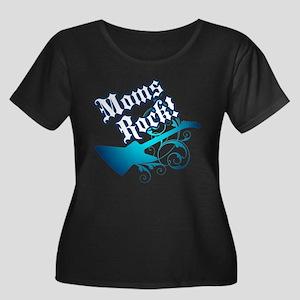 Moms Rock! - Women's Plus Size Scoop Neck Dark T-S