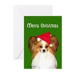 Papillon Christmas Greeting Cards (Pk of 10)