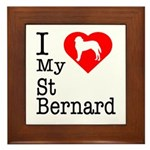 I Love My Saint Bernard Framed Tile