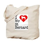 I Love My Saint Bernard Tote Bag