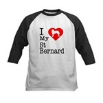 I Love My Saint Bernard Kids Baseball Jersey