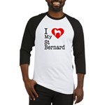 I Love My Saint Bernard Baseball Jersey