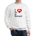 I Love My Saint Bernard Sweatshirt